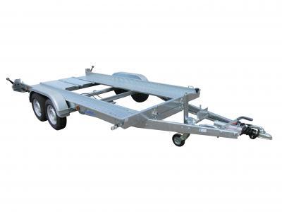 Porte voiture LIDER 39760  2500kg , treuil + support , cales de roues , double essieux , kit rampe de montée ,