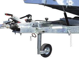 porte voiture franc PVPRO250 et 270 équipé treuil+support , roue de secours + support , barre de calage , plancher bois integral ,