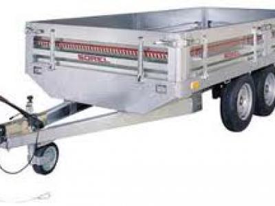 Remorque utilitaire freinée double essieux RI2162 avec carte grise