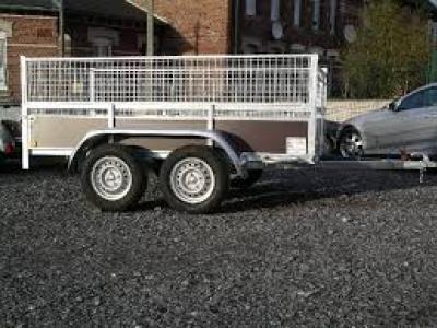Remorque bagagère bois rb2524sf double essieux - 252x141x30 avec carte grise pas chère promotion