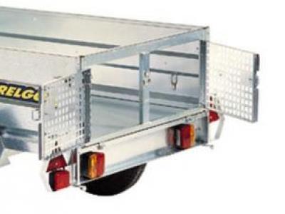 Porte double pour transport d'animaux pour remorque trigano trelco franc