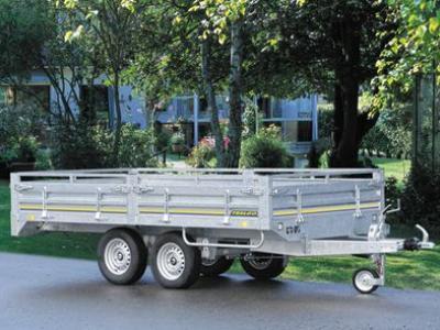 Remorque gamme pro freinee roues dessous double essieux RI5202/5252/5322/5352