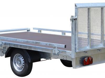 plateau basculant roues dessous RIS340F150 avec hayon chargement + kit rambardes