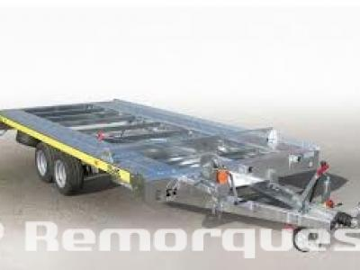 Remorque voiture double essieux FRANC TRIGANO PVPRO300 barre de calage , treuil + support , kit rampe de montée ,