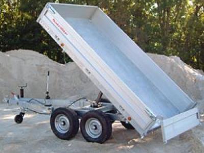 Remorque benne basculante double essieux satellite 2640x1510/HU222S