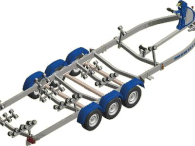 Remorque bateau SATELLITE MX353S-100 triple essieux 3500kg
