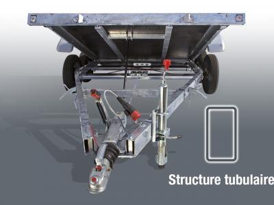 porte voiture VTX151AL/VG satellite voie large basculement vérin gaz