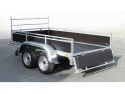 Remorque bagagère bois rb2524 essieu 750kg sans carte grise pas chère promotion