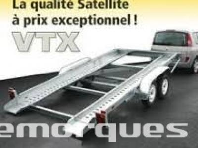porte voiture vtx253l/vg double essieux