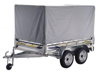 Remorque double essieux trelgo trigano franc essieux de 750kg avec ou sans carte grise