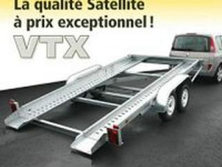 Remorque porte voiture vtx223al double essieux satellite remorque basculement hydraulique