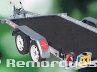 remorque frein e plateau basculant double essieux jx203a. Black Bedroom Furniture Sets. Home Design Ideas