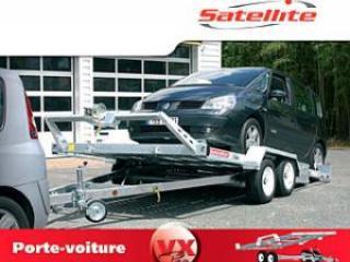 Remorque porte voiture vx183a double essieu pro satellite