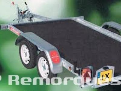 Remorque freinée plateau basculant double essieux JX203A/vg Satellite