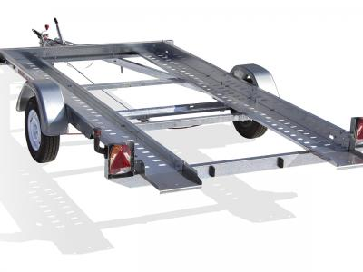 porte voiture VTX151/A simple essieu basculante satellite rsa voie étroite