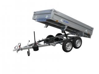 remorque benne hydraulique 3500 kg LIDER 39612PE  pompe hydrau-électrique roues dessous