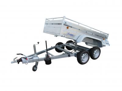 remorque benne hydraulique 1500 kg LIDER 34352 roues exterieur