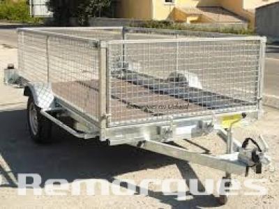 Remorque plateau motoculture  REV 250F75 espace vert