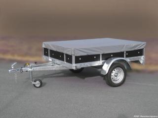 remorque bois franc  double essieux GMB2524SF