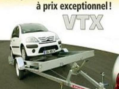 Remorque porte voiture vtx151/a simple essieu basculante satellite rsa