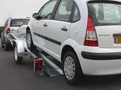porte voiture VTX131AL/VG voie large basculement vérin gaz