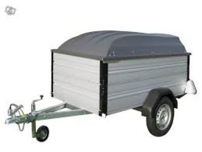 Remorque alu200sf essieu 750kg roue 155/70R13 pas chère avec carte grise