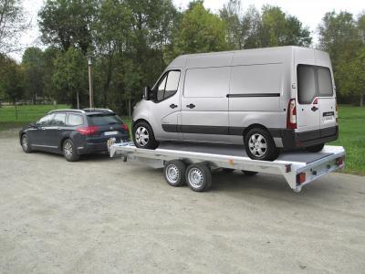 Remorque voiture double essieux PVPRO300 équipé