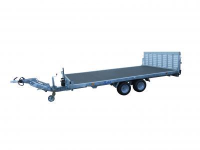 plateau basculant roues dessous LIDER 40655L freinée 2500 kg LIDER timon articulé