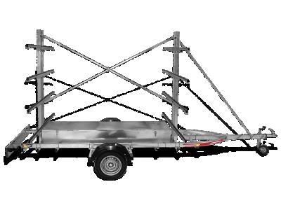 Remorque porte canoë avec frein  R 501 F C8
