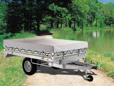 Remorque roue dessous  pro chassis frenee simple essieu trigano RI2075/2100/2130/2160