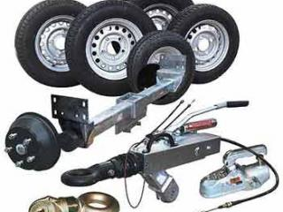 Accessoire remorque essieu - roue - tete freinee