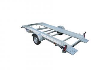 Porte voiture LIDER 39770 treuil + support , cales de roues, 1600kg, simple essieu