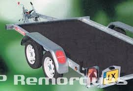 remorque frein e plateau basculant double essieux jx203a vg satellite. Black Bedroom Furniture Sets. Home Design Ideas
