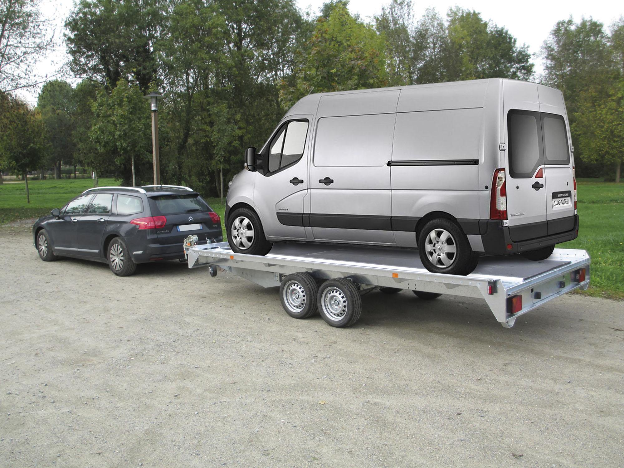Remorque voiture double essieux pv pro 250 porte voiture toulon var - Remorque porte voiture double essieux ...
